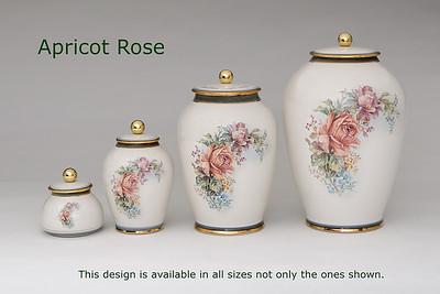 Apricot Rose.........Available in Miniature,  Small, Midi,  Medium, 3 Litre,  Large,  Double & Memento Jar.