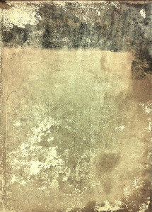 """""""Subway Rothko.""""  iPhone photo.  The random patterns formed by layers and gobs of old wheat paste, or whatever glue is now used, to attach commercial billboards to subway walls are often interesting."""