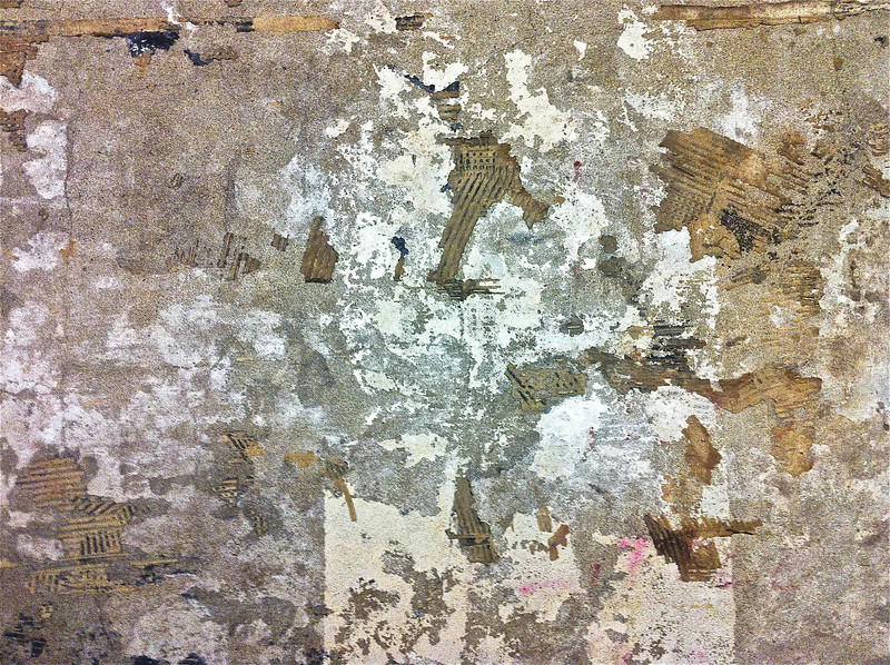 Subway abstract, 50th Street Station, C line, uptown platform<br /> <br /> iPhone photo