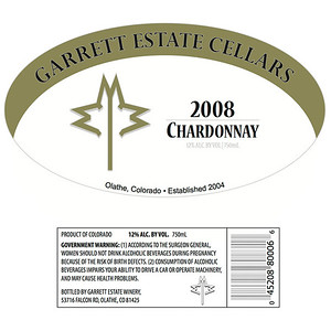 Garrett Wineries Bottle Label Kit