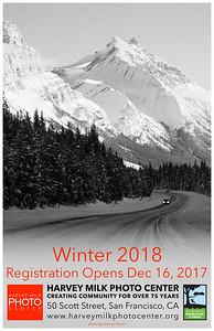 Winter 2018 Classes - 11x17 Poster