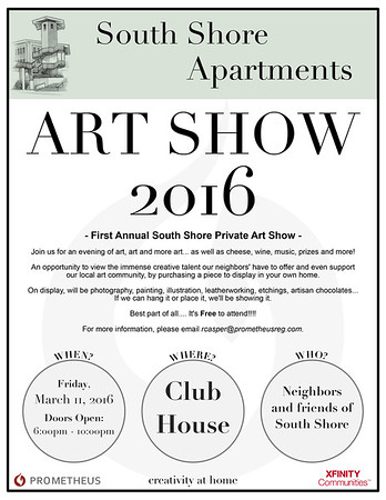 South Shore Private Art Show Flyer
