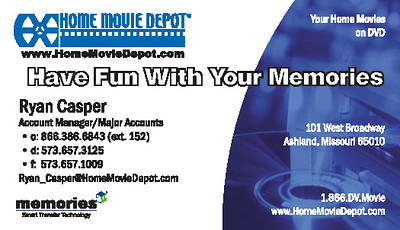 Home Movie Depot Business Card