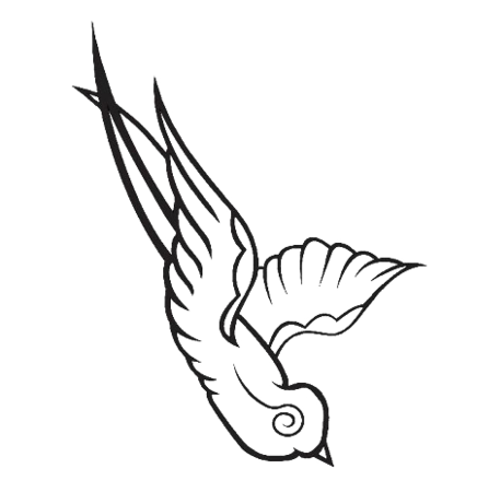 Swallow - Custom Design. Requested a custom car decal to match customer tattoo.Tool(s) Used: Adobe Illustrator / LXi MasterYear: 2006Company: Camoclad