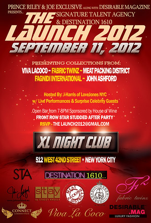 Signature Talent Agency and Destination 1610 presents The Launch 2012