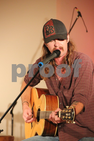 Desiring The Arts took place at McSweeney's School of the Performing Arts on Thursday, August 25, 2016 in Fort Dodge. The event offered a wide variety of music, artists, and performers. One of the performers at the event was Jeremy Ober, from the band Brutal Republic, pictured here.