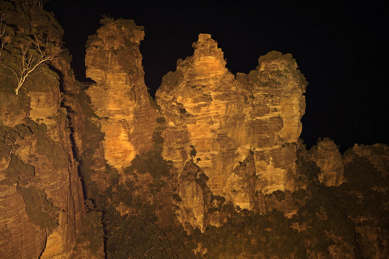 Three Sisters at Katoomba, Echo Point. Taken at night 25 second exposure 105mm.