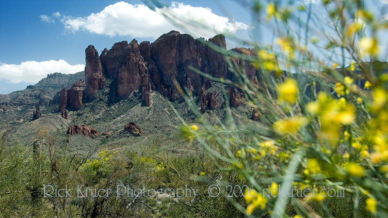 Copyright © 2007 Rick Kruer<br /> rickkruer.com<br /> <br /> Superstition Mountains east of Mesa, AZ