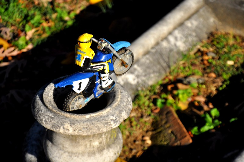 a toy left on a child's grave. 2012