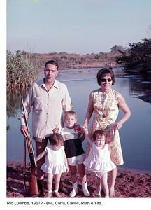 Rio Luembe 1967? Dias Mendes, Carla, Carlos, Ruth e Tita