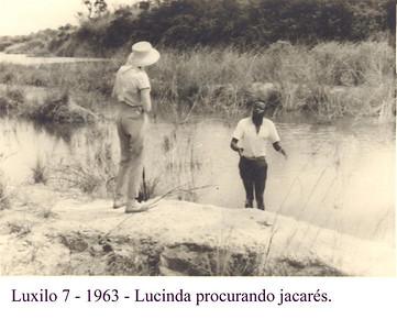 Luxilo, 1963,  Lucinda Dias Mendes, procurando jacarés