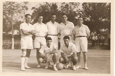 Humberto Sousa, Engº Arruda, ?, Xico Pires e Sousa Machado, Xico Paulos e Alfredo Ribeiro