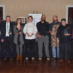 Board Chair of Girl Scouts of Kentuckiana Vivian Blade, Scott Allgood with John Conti Coffee, Dara Staggers with Roux, Jessica Roberts with Flour de Lis Bakery, Titus Matthews and Zach Wolf with Gary's on Spring, Danilo Criollo with Ladyfingers Catering