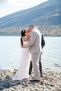 Eklutna/Knik Glacier Destination Wedding: Leslie & Shane by Lena Stevens