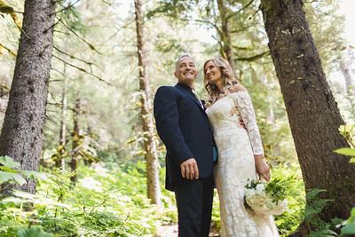 Girdwood Destination Wedding: Amber & Mark Around Girdwood and at Colony Glacier by Joe Connolly