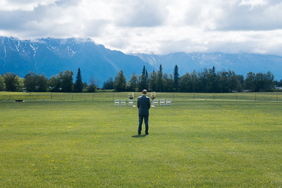 Palmer Destination Wedding: Kathryn & Thomas at Paradise Alaska and Knik Glacier by Joe Connolly