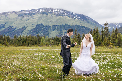 Girdwood Destination Wedding: Regina & Yuriy at George Glacier and Around Girdwood by Joe Connolly
