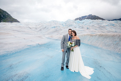 Glacier Destination Wedding: Jill & Ahmad at Herbert Glacier and Around Juneau by Joe Connolly