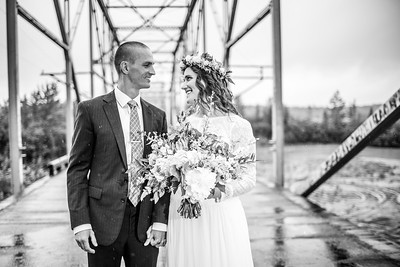 Palmer Destination Wedding: Jodie & Alex at Knik River Lodge and Knik Glacier by Lena Stevens