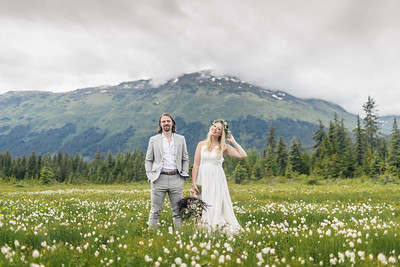 Girdwood Wedding: Sarah & Josh at Crow Creek Mine and Around Girdwood by Joe Connolly