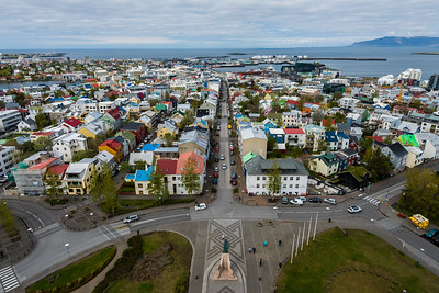 Exploring Reykjavik (From the Top of Hallgrimskirkja) - Iceland 2016