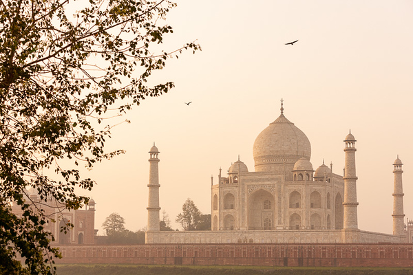 The majestic Taj Mahal in Agra, India