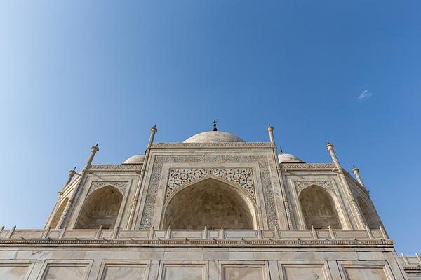 The majestic Taj Mahal in Agra, India