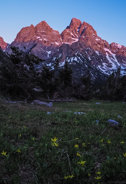 The Tetons from the backside at sunset
