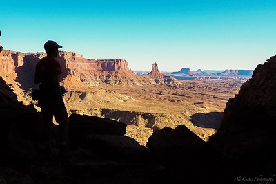 Hiking up from False Kiva archeological site, Canyonlands National Park