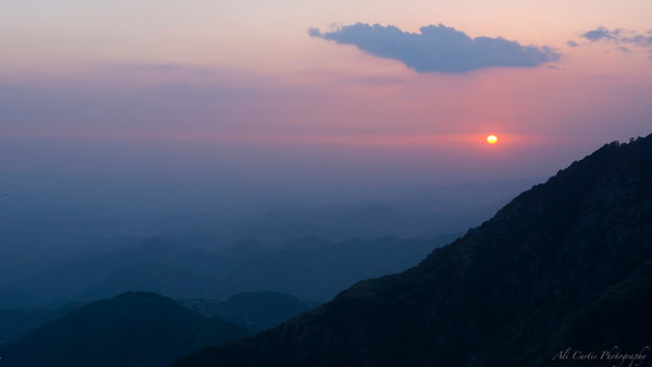 Sunset at Triund Mcleod Gang, India