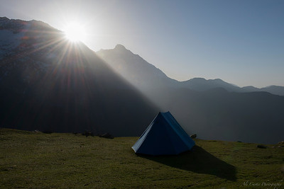 Sunrise over the Himalayas Triund Mcleod Gang, India