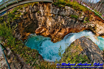 Bobobst photo keywords canada kootenay national park radium hot fireweed trail hikers view of entrance rapids on tokumm creek within marble canyon of kootenay national sciox Image collections