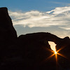 Turret Arch at sunset.