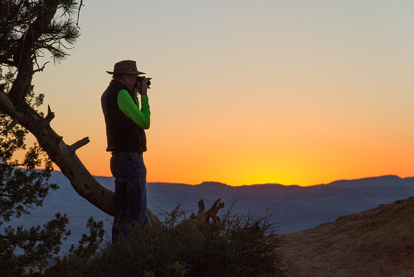 One of our Road Scholar group shooting Bryce Canyon at sunrise.