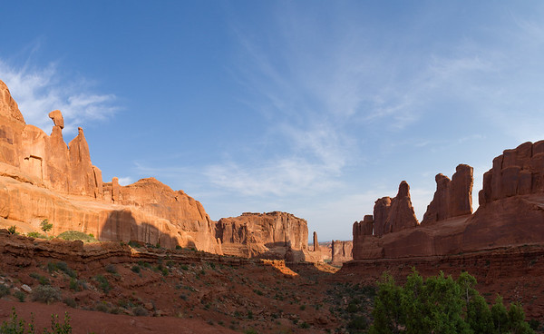 Park Avenue valley, looking north - Arches National Park.