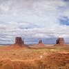 Monument Valley Navajo Tribal Park.  Left Mitten formation in center.