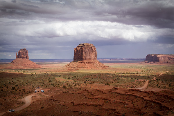 Monument Valley - Right Mitten and Merrick Butte (center)