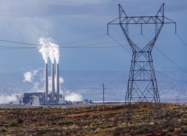 Navajo Power Station near Page, Arizona