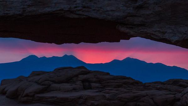 Sunrise through Mesa Arch - Canyonlands National Park