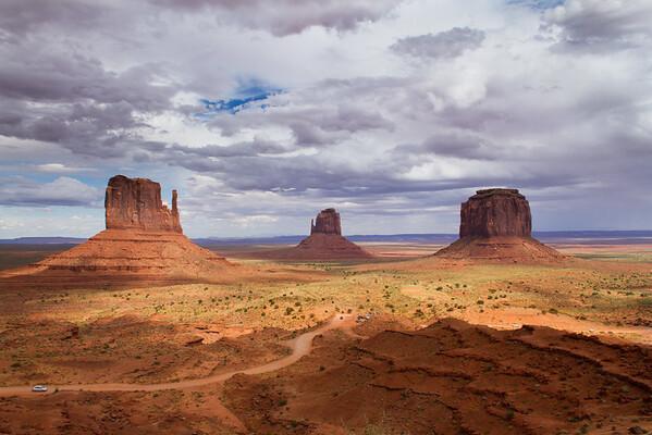 Monument Valley - Left Mitten, Right Mitten, Merrick Butte