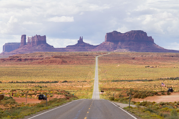 Looking south toward Mounment Valley on U.S. highway 163, where Forrest Gump ended his cross-country run in 1980.