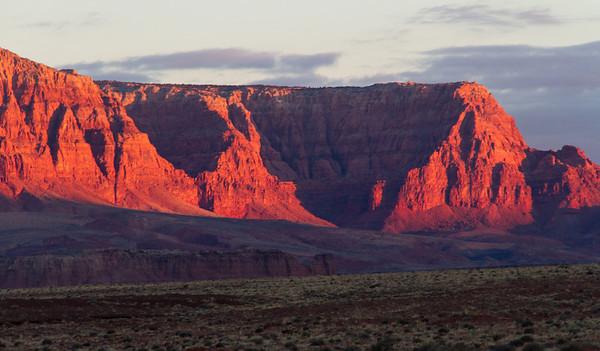 Vermilion Cliffs at dawn.