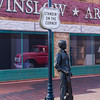 """Standin' on the corner in Winslow, Arizona . . .""."