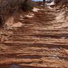 Slickrock (sandstone) stairway to The Wave