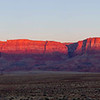 Dawn breaks on the Vermilion Cliffs on the east-facing side of the Paria Plateau.