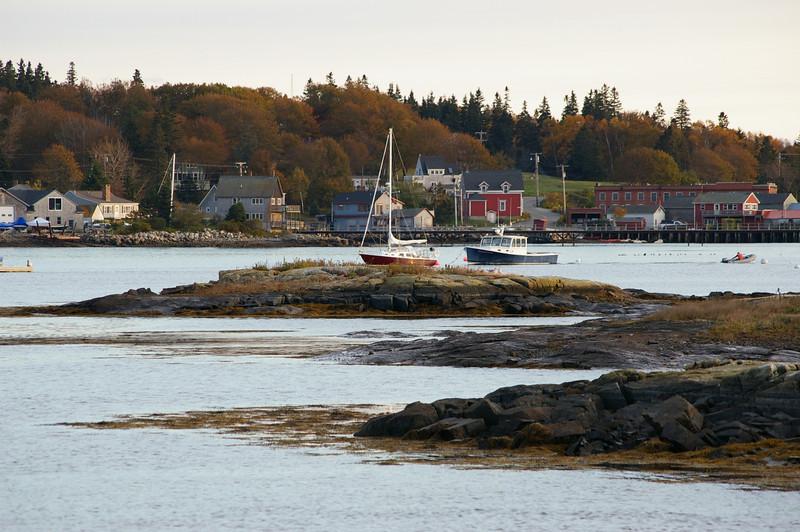 Some boats anchored near Ann's Point