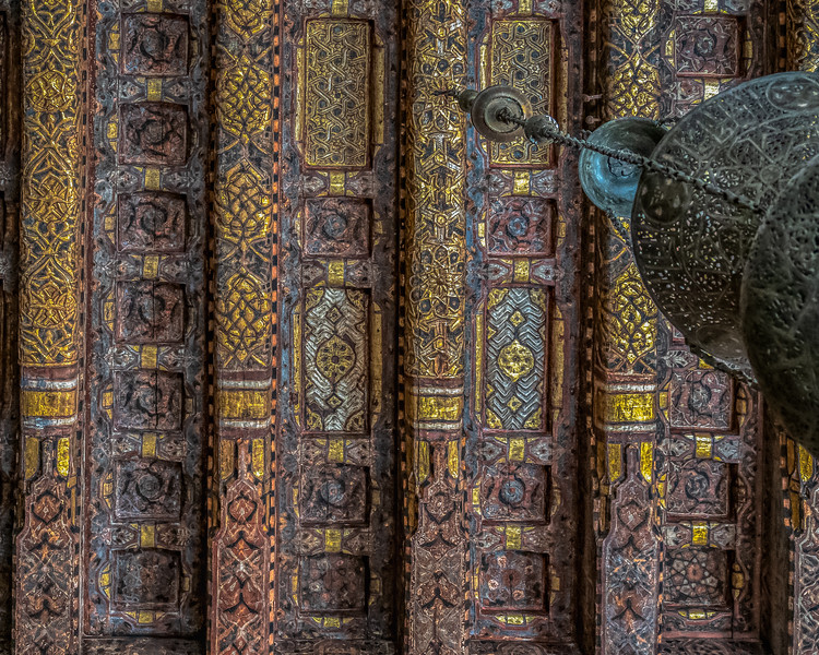 Colorful old ceiling, Cairo, Egypt