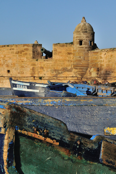 Essaouira, Morocco, is largely a creation of the Portuguese, a heritage that is expressed in both the city's architecture and fising boats.