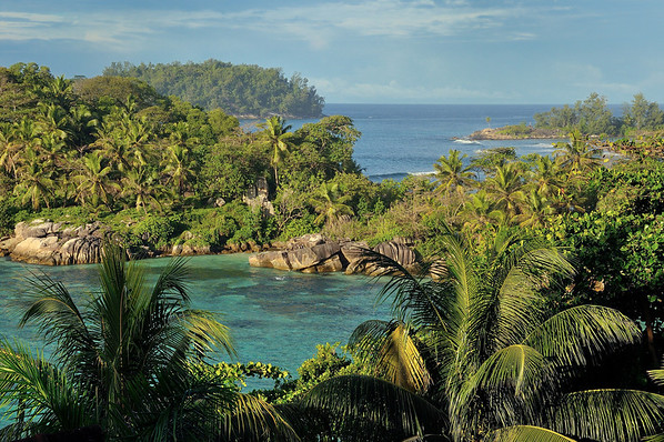 Veiw from our yard in Mahe, Seychelles