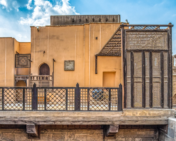"""The Gayer-Anderson Museum in Cairo, Egypt, preserves two old Islamic courtyard homes. It includes a wonderful collection of mashrabiya window screens and a great rooftop terrace. See more at  <a href=""""https://explorationvacation.net/2021/01/gayer-anderson-museum-cairo-egypt/"""">https://explorationvacation.net/2021/01/gayer-anderson-museum-cairo-egypt/</a>"""